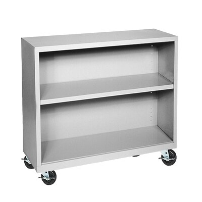 "Sandusky Cabinets 36"" H Two Shelf Mobile Bookcase"