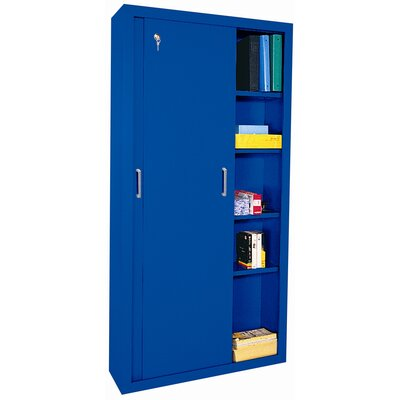 "Sandusky Cabinets 72"" Storage Cabinets with Sliding Door"