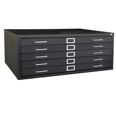 Sandusky Cabinets 5 Drawer Flat File with Closed Base