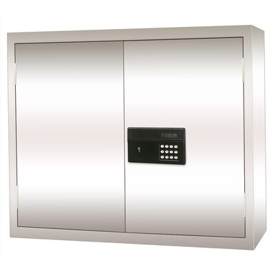 Sandusky Cabinets Stainless Steel Wall Cabinet with Electronic Lock 30x12x30