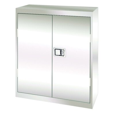 Sandusky Cabinets Stainless Steel Cabinet with Paddle Lock, 36x18x42