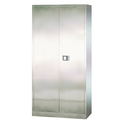 Sandusky Cabinets Stainless Steel Cabinet with Paddle Lock, 36x18x72