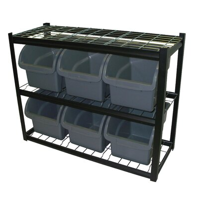 """Sandusky Cabinets 33"""" H 3 Shelf Shelving Unit Starter"""