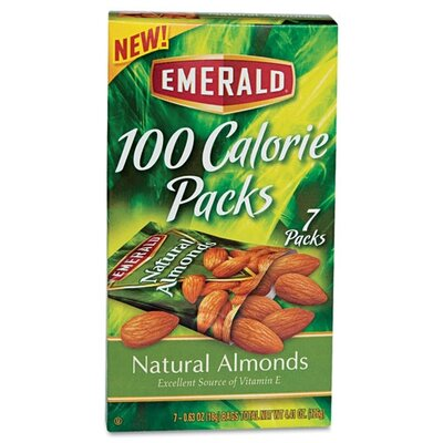 Diamond Foods, Inc. Emerald 100 Calorie Pack All Natural Almonds, 7 Packs/Box