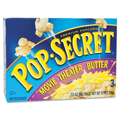 Diamond Foods, Inc. Pop Secret Microwave Popcorn, 3 Bags/Box