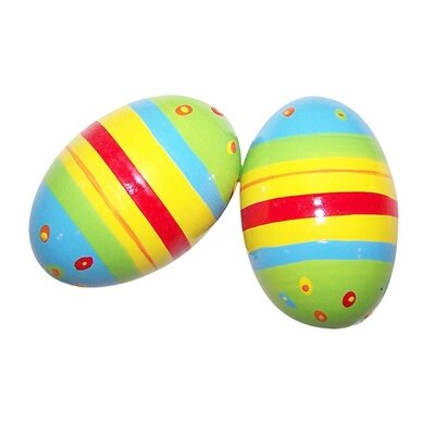 Sassafras Kid's Striped Shaker Eggs