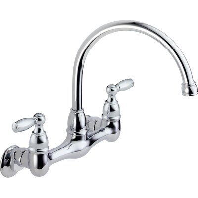 Peerless Faucets Two Handle Wall Mounted Kitchen Faucet