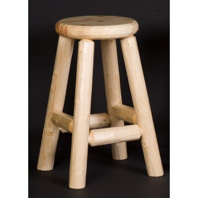 Northwoods Billiards Log Pub Stool