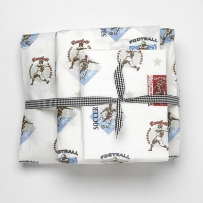 Whistle and Wink Vintage Sports 240 Thread Count Sheet Set