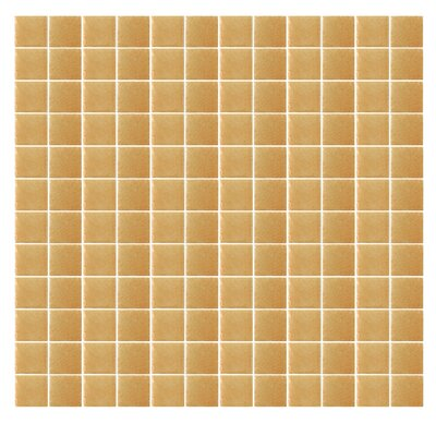 "Epoch Architectural Surfaces Spongez S-Light Brown 1"" x 1"" Recycled Glass Mosaic in Brown"