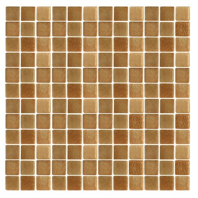 "Epoch Architectural Surfaces Spongez S-Brown 12"" x 12"" Recycled Glass Mosaic in Brown"
