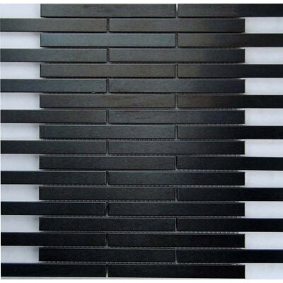 "Epoch Architectural Surfaces Dancez Electric Slide 12"" x 12"" Brushed Metal Mosaic in Black"