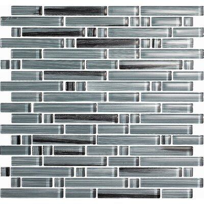 "Epoch Architectural Surfaces Brushstrokes Peltro 12"" x 12"" Random Mosaic in Gray Multi"