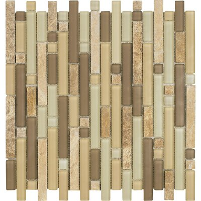 "Epoch Architectural Surfaces Varietals Sylvaner 12"" x 12"" Random Mosaic Stone and Glass Blend in Multi"