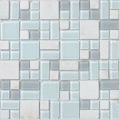 "Epoch Architectural Surfaces No Ka 'Oi Kapalua 12"" x 12"" Random Mosaic Stone and Glass Blend in Multi"