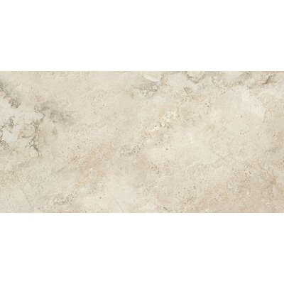 "Epoch Architectural Surfaces 12"" x 24"" Porcelain Field Tile in Gray Travertine"