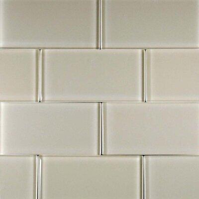 "Epoch Architectural Surfaces Desertz Kalahari 12"" x 12"" Glass Subway Tile in Beige Multi"