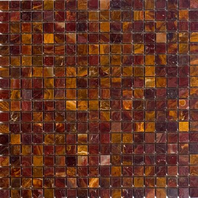 "Epoch Architectural Surfaces 12"" x 12"" Polished Onyx Mosaic in Red"