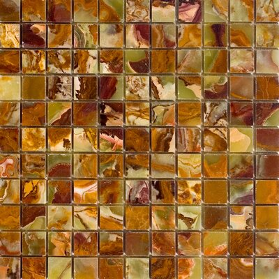 "Epoch Architectural Surfaces 12"" x 12"" Polished Onyx Mosaic in Green"