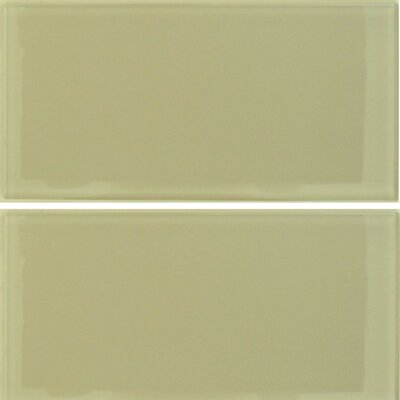 "Epoch Architectural Surfaces Desertz Sahara 12"" x 12"" Glass Subway Tile in Beige Multi"
