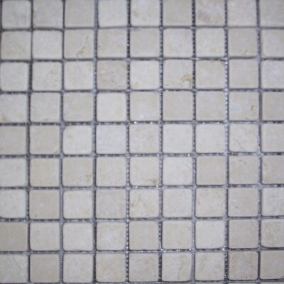 "Epoch Architectural Surfaces 12"" x 12"" Tumbled Limestone Mosaic in Sunrise"