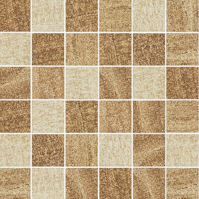 "Epoch Architectural Surfaces 12"" x 12"" Porcelain Mosaic in Almond/Oak/Walnut"