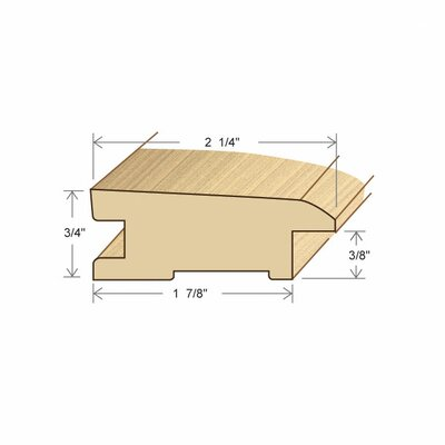 "Moldings Online 0.75"" x 2.26"" Solid Hardwood Birch Bi-Level Reducer in Unfinished"