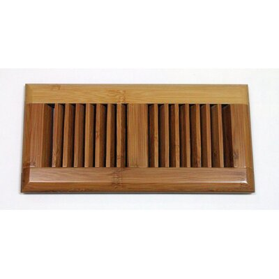 "Moldings Online 5-5/8"" x 11-1/4"" Horizontal Bamboo Surface Mount Wood Vent"