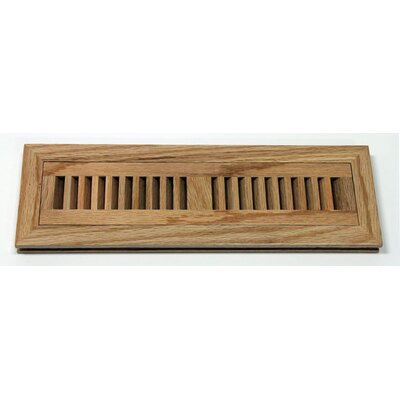"Moldings Online 2"" x 10"" x 3/4"" Flush Mount Red Oak Wood Vent in Natural"