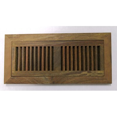 "Moldings Online 4-1/2"" x 12"" Ipe Wood Flush Mount Vent"