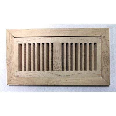 "Moldings Online 12-3/8"" x 6-3/4"" Maple Wood Flush Mount Vent"