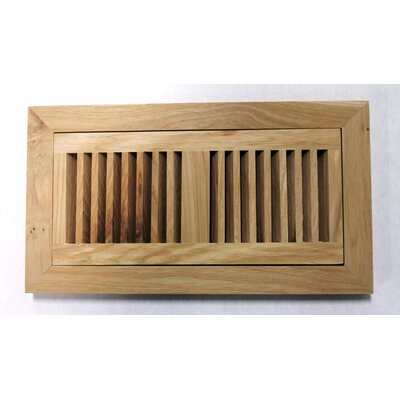 "Moldings Online 4-1/2"" x 14-1/8"" Pecan Wood Flush Mount Vent"