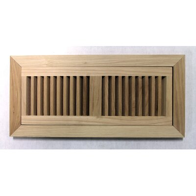 "Moldings Online 6-3/4"" x 14-1/2"" Pecan Flush Mount Wood Vent"