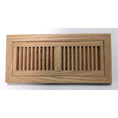 "Moldings Online 6-3/4"" x 14-1/2"" Red Oak Wood Flush Mount Vent"