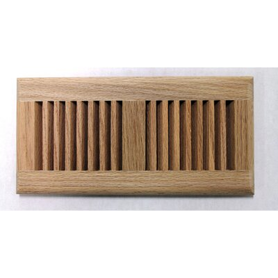 "Moldings Online 5-5/8"" x 13-1/2"" Red Oak Surface Mount Wood Vent"