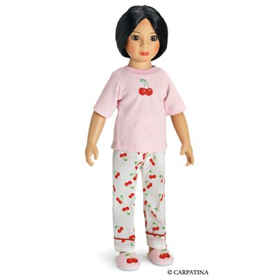 "Carpatina Pajamas and Slippers for 18"" Slim Dolls"