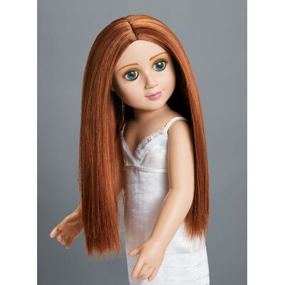 "Carpatina Erin 18"" Vinyl Slim Doll with Green Eyes and Red Hair"