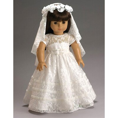 Carpatina American Girl Dolls Special Day Dress, Wreath and Veil with First Communion or Wedding Outfit