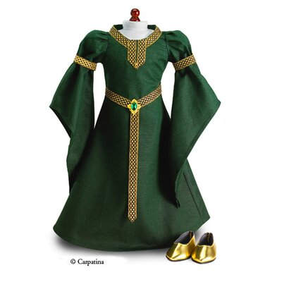 Carpatina American Girl Dolls Celtic Princess Medieval Dress and Shoes