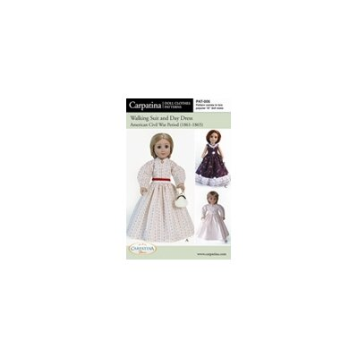 Carpatina Clothes Pattern Doll Civil War Period