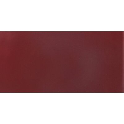 "Solistone Hand-Painted Ceramic 3"" x 6"" Glazed Field Tile in Russet"