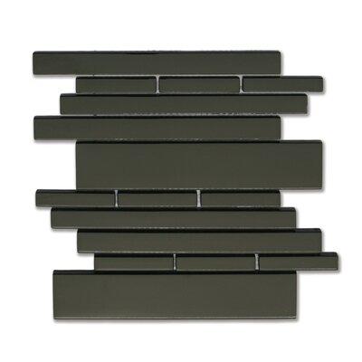 Solistone Piano Random Sized Interlocking Mesh Glass Tile in Melody