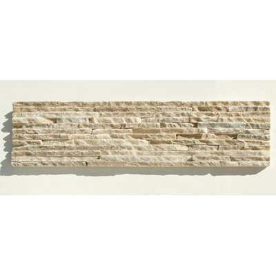 "Solistone Portico Slate 6"" x 23 1/2"" Stacked Stone Tile in Beige"