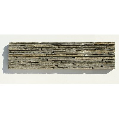 Portico Slate Random Sized Stacked Stone Tile in Dark Green