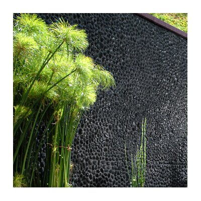 "Solistone Decorative Pebbles 12"" x 12"" Interlocking Mesh Tile in Black Sea Minor"