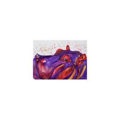 Blackwater Design Cousins Series Humphey the Hippo 16 x 20 Wrap Canvas