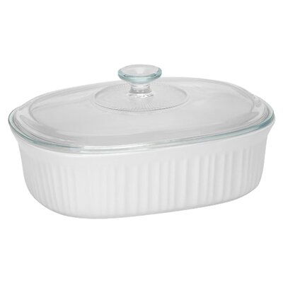 French White 2 1/2-Qt. Oval Casserole