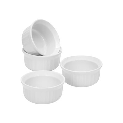 Corningware French White 7 oz. Ramekins (Set of 4)