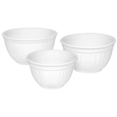 French White 3 Piece Bowl Set