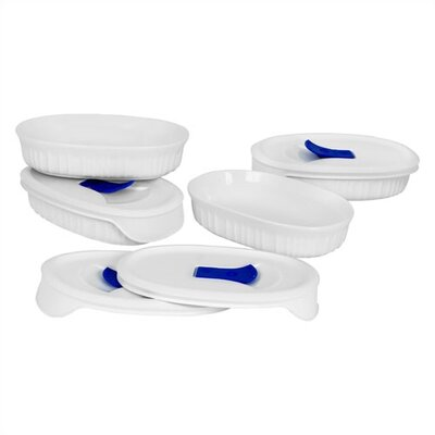 Corningware French White 8 Piece Pop-Ins Bake and Serve Set